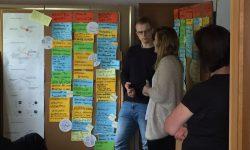 12. In der 1. Dorfwerkstatt in Manderfeld haben die Studenten die Ideen der Bürger nach Themen sortiert und Ansätze für erste kleinere Projekte vorgestellt.
