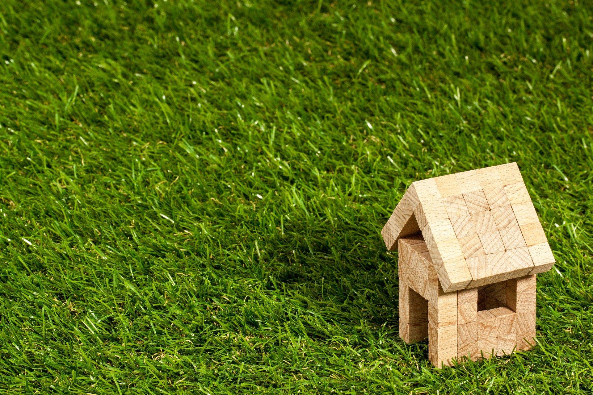 Bild Haus auf Gras