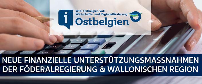 Finanzielle Unterstützungsmassnahmen der Föderalregierung, Wallonie & Gemeinden